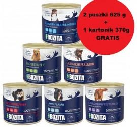 Kup 2 puszki dla psa Bozita 625g , gratis otrzymasz kartonik 370g