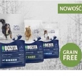 BOZITA Dog Grain Free 1,1 kg -  bezzbożowa karma dla psów w trzech smakach