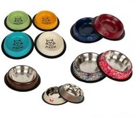 NOWOŚĆ Miska metalowa dla psów i kotów na gumie firmy CHICO mix