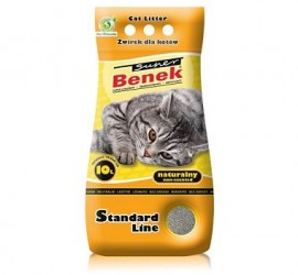 Żwirek dla kota Super Benek Standard Naturalny 10 l