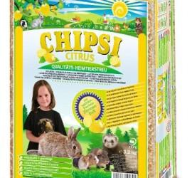 Chipsi Citrus 60 l - higieniczna podściółka z trocin dla gryzoni