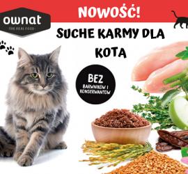 Ownat suche karmy dla kotów