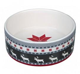 Ceramiczna miska ze świątecznym motywem TRIXIE