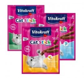"""VITAKRAFT """"Cat Stick Mini""""  3 szt. - miękkie przysmaki dla kota"""