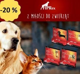 Fiprex krople przeciwkleszczowe i przeciwpchelne dla zwierząt